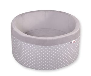 Ball-pit minky without balls - white dots on grey