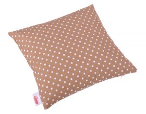 Pillow case - white dots on brown