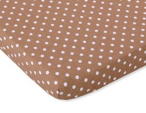 Sheet made of cotton 140x70cm white dots on brown