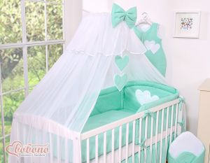 Mosquito-net made of chiffon- Hanging Hearts mint