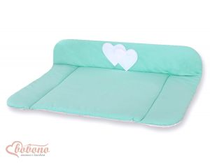 Soft changing mat- Hanging Hearts mint