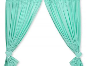 Curtains for baby room- Hanging Hearts mint