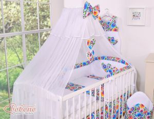 Mosquito-net made of chiffon- Hanging Hearts flower pattern