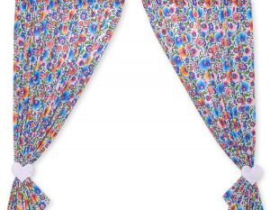 Curtains for baby room- Hanging Hearts flower pattern