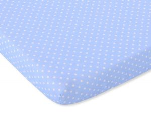 Sheet made of cotton 140x70cm white polka dots on blue