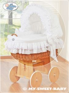 Cover set 4 pcs for Moses Basket/Wicker crib no. 58962-102 or 78962-102