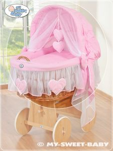 Cover set 4 pcs for Moses Basket/Wicker crib no. 58962-122 or 78962-122