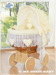 Cover set 4 pcs for Moses Basket/Wicker crib no. 58962-142 or 78962-142