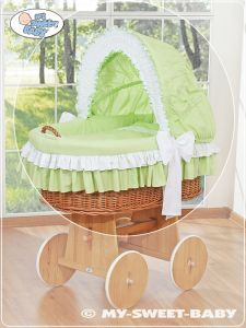 Cover set 4 pcs for Moses Basket/Wicker crib no. 58962-207 or 78962-207