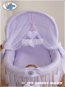Bedding set 2-pcs for Moses Basket/ Wicker crib no. 58962-291 or 78962-291