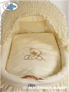 Bedding set 2-pcs for Moses Basket/ Wicker crib no. 58962-321 or 78962-321