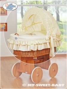 Cover set 4 pcs for Moses Basket/ Wicker crib no. 58962-321 or 78962-321