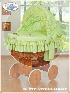 Cover set 4 pcs for Moses Basket/Wicker crib no. 58962-322 or 78962-322