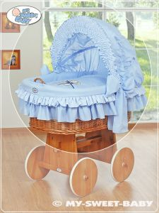 Cover set 4 pcs for Moses Basket/Wicker crib no.  58962-323 or 78962-323