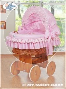 Cover set 4 pcs for Moses Basket/Wicker crib no. 58962-324 or 78962-324