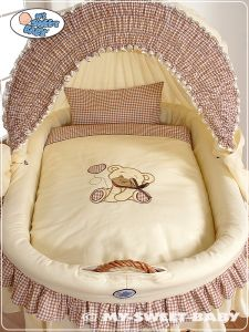 Bedding set 2-pcs for Moses Basket/ Wicker crib no. 58962-326 or 78962-326