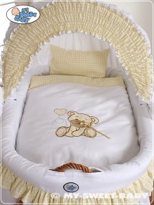 Bedding set 2-pcs for Moses Basket/ Wicker crib no. 58962-327 or 78962-327