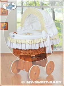 Cover set 4 pcs for Moses Basket/Wicker crib no. 58962-327 or 78962-327
