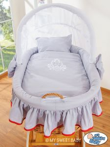 Bedding set 2-pcs for Moses Basket/ Wicker crib no. 58962-419 or 78962-419