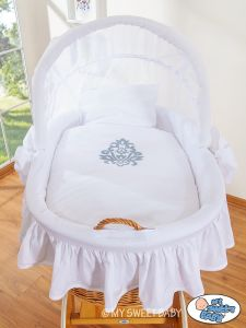 Bedding set 2-pcs for Moses Basket/ Wicker crib no. 58962-423 or 78962-423