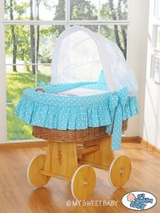 Cover set 4 pcs for Moses Basket/Wicker crib no. 58962-425 or 78962-425