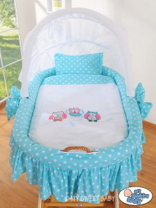 BBedding set 2-pcs for Moses Basket/ Wicker crib no. 58962-425 or 78962-425