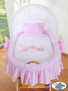 Bedding set 2-pcs for Moses Basket/ Wicker crib no. 58962-426 or 78962-426