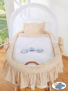 Bedding set 2-pcs for Moses Basket/ Wicker crib no. 58962-427 or 78962-427