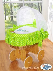Cover set 4 pcs for Moses Basket/Wicker crib no. 58962-428 or 78962-428