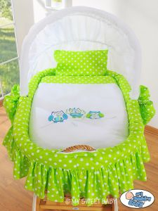 Bedding set 2-pcs for Moses Basket/ Wicker crib no. 58962-428 or 78962-428