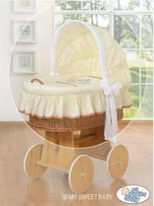 Cover set 4 pcs for Moses Basket/Wicker crib no. 58962-804 or 78962-804
