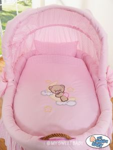 Bedding set 2-pcs for Moses Basket/ Wicker crib no. 58962-806 or 78962-806