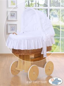 Cover set 4 pcs for Moses Basket/Wicker crib no. 58962-812 or 78962-812
