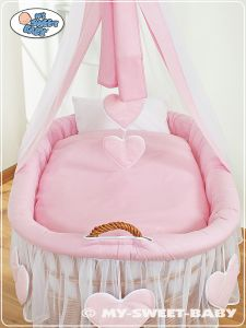 Cover set 4 pcs for Moses Basket/Wicker crib no. 59582-122 i 79582-122