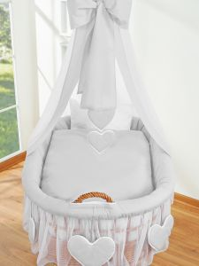 Bedding set 2-pcs for Moses Basket/Wicker crib no. 59582-523 or 79582-523