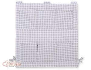 Cot tidy- Grey checkered