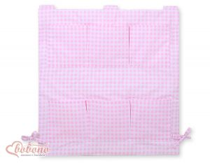 Cot tidy- pink checkered