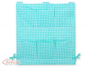 Cot tidy- Mint checered