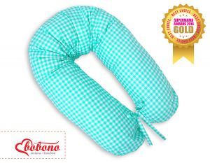 Pregnancy pillow- Mint checkered