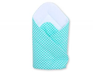 Baby nest with stiffenig- Mint checkered