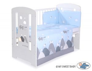 Bedding set 3-pcs- Crazy wolf blue