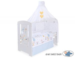 Bedding set 5-pcs with canopy- Friends blue