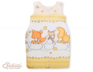 Sleeping bag- Basic Forest animals cream