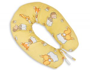 Pregnancy pillow - Longer- Forest animals cream