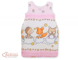 Sleeping bag- Basic Forest animals pink