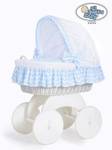Moses Basket/Wicker crib with hood Hannah no. 70102-900*