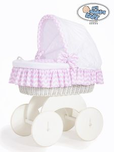 Moses Basket/Wicker crib with hood Hannah no. 70102-901*