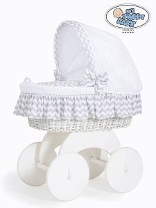 Moses Basket/Wicker crib with hood Hannah no. 70102-902*