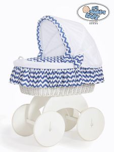 Moses Basket/Wicker crib with hood Hannah no. 70102-903*
