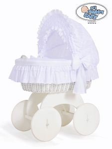 Moses Basket/Wicker crib with hood Hannah no 70102-906